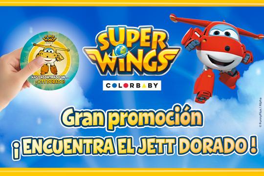 Promoción Jett Dorado SUPER WINGS