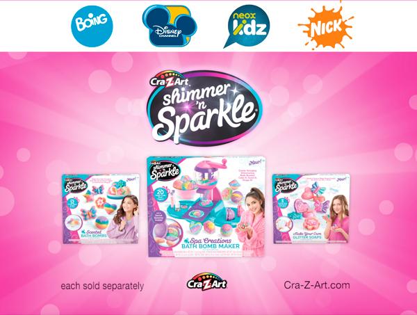 ¡NUEVO! Fábrica de bombas de baño Shimmer'n Sparkle COLORBABY