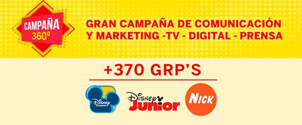 IMPORTANTE CAMPAÑA DE TV EN ESPAÑA Y PORTUGAL